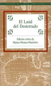 Cover of: El Laud Del Desterrado (Recovering the Us Hispanic Literary Heritage)