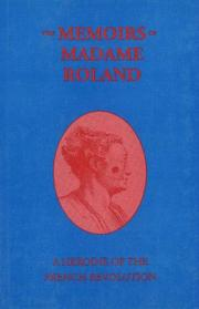 Cover of: memoirs of Madame Roland | Roland Mme