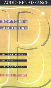 Cover of: How to Be a Billionaire |