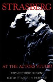 Cover of: Strasberg at the Actors' Studio