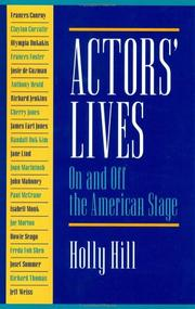 Cover of: Actors' Lives: On and Off the American Stage