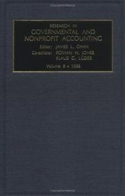 Cover of: Research in Governmental and Nonprofit Accounting
