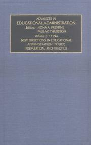 Cover of: ADV ED ADMIN V 3 (Advances in Educational Administration)