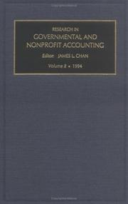 Cover of: Research in Governmental and Nonprofit Accounting | James L. Chan