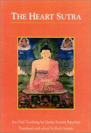Cover of: The Heart sutra