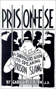 Cover of: Prison-ese | Gary K. Farlow