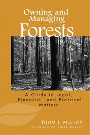Cover of: Owning and Managing Forests | Thomas J. McEvoy