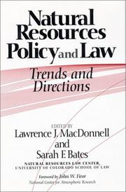 Cover of: Natural Resources Policy and Law |