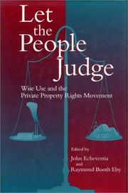 Cover of: Let the people judge | John D. Echeverria, Raymond Booth Eby