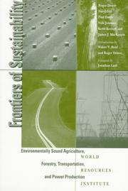 Cover of: Frontiers of Sustainability