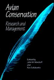 Cover of: Avian conservation |