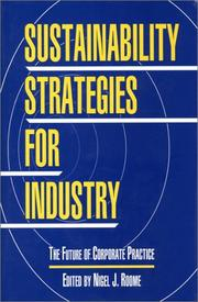 Cover of: Sustainability Strategies for Industry