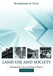 Cover of: Land use and society