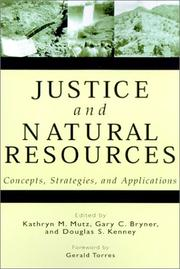 Cover of: Justice and Natural Resources |