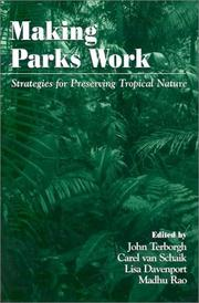Cover of: Making Parks Work |