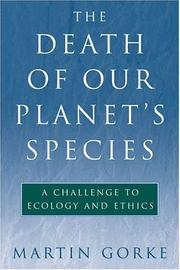 Cover of: The Death of Our Planet's Species
