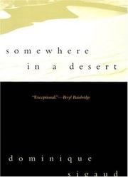 Cover of: Somewhere in a desert
