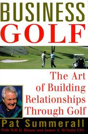 Cover of: Business golf
