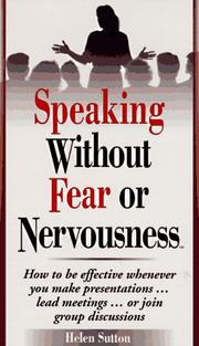 Cover of: Speaking Without Fear or Nervousness