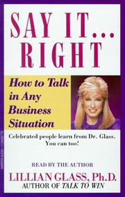 Cover of: Say It Right How To Talk In Any Business Situatons