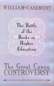 The Great Canon Controversy by William Casement