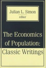 Cover of: The economics of population