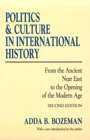 Politics and culture in international history by Adda B. Bozeman