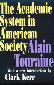 Cover of: The academic system in American society
