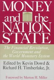 Cover of: Money and the Nation State |