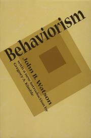 Cover of: Behaviorism