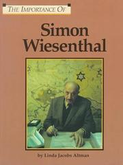 Cover of: The Importance Of Series - Simon Wiesenthal