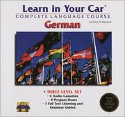 Cover of: Learn in Your Car-German: 3 Level Set: Complete Language Course