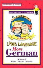 Cover of: Lyric Language: German/English: Series 2