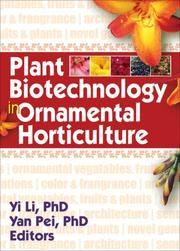 Cover of: Plant Biotechnology in Ornamental Horticulture |