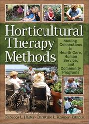 Cover of: Horticulture Therapy Methods |