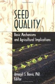 Cover of: Seed Quality