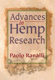 Cover of: Advances in Hemp Research