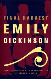 Cover of: Final harvest: Emily Dickinson's poems