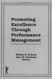 Cover of: Promoting Excellence Through Performance Management (Journal of Organizational Behavior Management, Vol 11, No 1) (Journal of Organizational Behavior Management, Vol 11, No 1)