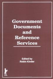 Cover of: Government documents and reference services