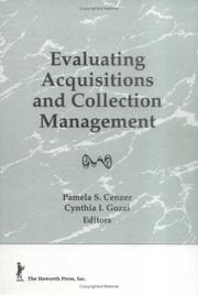 Cover of: Evaluating Acquisitions and Collection Management (Acquisitions Librarian, No 6) (Acquisitions Librarian, No 6)