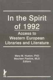 Cover of: In the Spirit of 1992