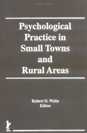 Cover of: Psychological practice in small towns and rural areas |