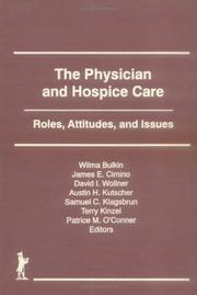 Cover of: The Physician and Hospice Care
