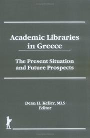 Cover of: Academic libraries in Greece |