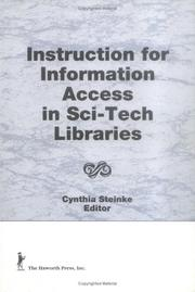Cover of: Instructions for Information Access in Sci-Tech Libraries (Science & Technology Libraries) (Science & Technology Libraries)
