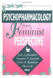 Cover of: Psychopharmacology from a feminist perspective |