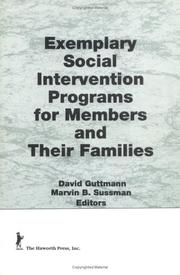 Cover of: Exemplary Social Intervention Programs for Members and Their Families (Marriage and Family Review) (Marriage and Family Review)