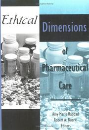 Cover of: Ethical Dimensions of Pharmaceutical Care (Journal of Pharmacy Teaching, V. 5, No. 1/2) (Journal of Pharmacy Teaching, V. 5, No. 1/2) |