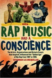 Cover of: When Rap Music Had a Conscience